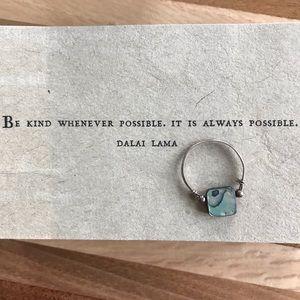 Jewelry - Handmade Abalone Ring - Size 10/11